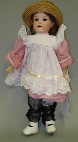 A.M 390 bisque head doll, circa 1910