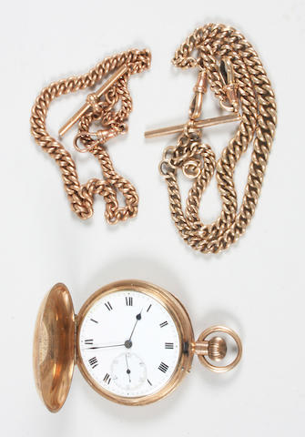 A 9 carat gold lever movement pocket watch