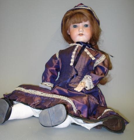 A.M 390 bisque head doll, circa 1910