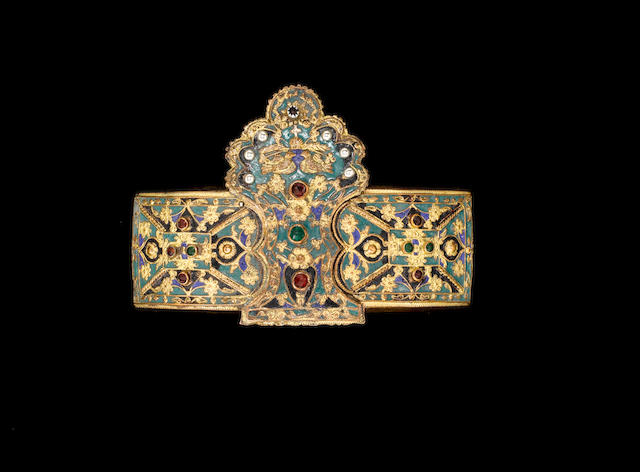 A gem-set and enamelled Belt Buckle Greece, late 18th Century