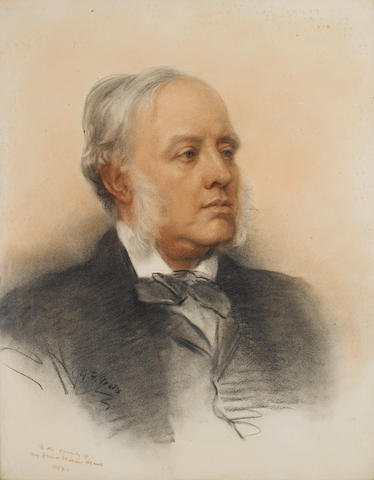 George Frederick Watts, R.A. (British, 1817-1904) Portrait of Sir William Agnew, Bt