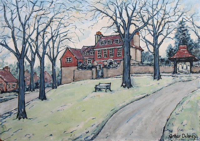 "Arthur Delaney (British, 1927-1987) ""Country House"","