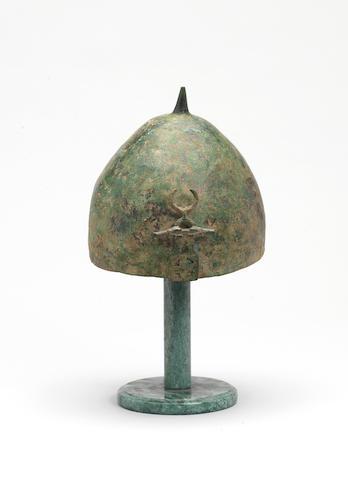 A Luristan bronze Helmet