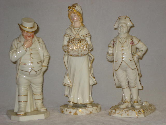 Three Royal Worcester figures by James Hadley