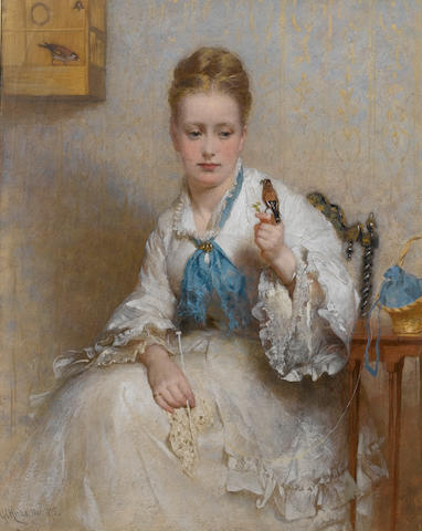 George Elgar Hicks, RBA (British, 1824-1914) The Goldfinch