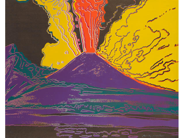 Andy Warhol (American, 1928-1987) 'Vesuvius', 1985 (Feldman & Schellmann IIB. 365) signed in pencil, screenprint, a unique impression printed by Rupert Jansen, New York, published by Fondazione Amelio, Naples, Italy