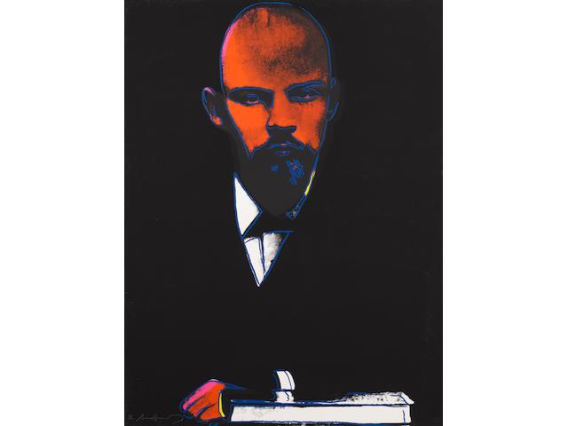 "Andy Warhol ""Lenin"", cm 100x73"