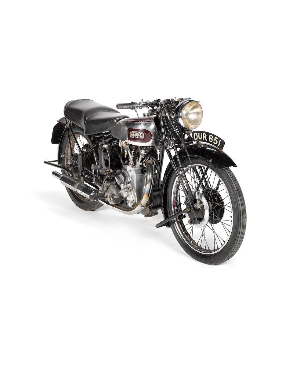 1938 Vincent-HRD 500cc Series-A Comet Frame no. D1518 Engine no. C862