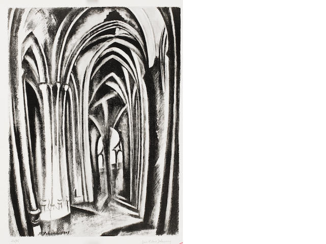 Robert Delaunay (French, 1885-1941) Saint Severin Lithograph, 1923-25, on watermarked BFK Rives, a p