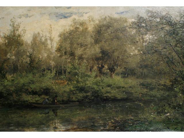 Cesar de Cock (Belgian, 1823-1904) Springtime