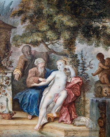 Dutch School, late 18th Century Suzanna and the Elders