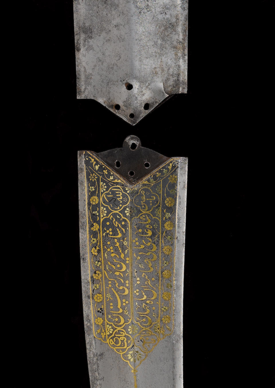 An important Dagger (Khanjar) with the blade inscribed to the Mughal Emperor Shah Jahan (reg. 1628-1657) Akbarabad (Agra), dated AH 1039/ AD 1629-30(2)