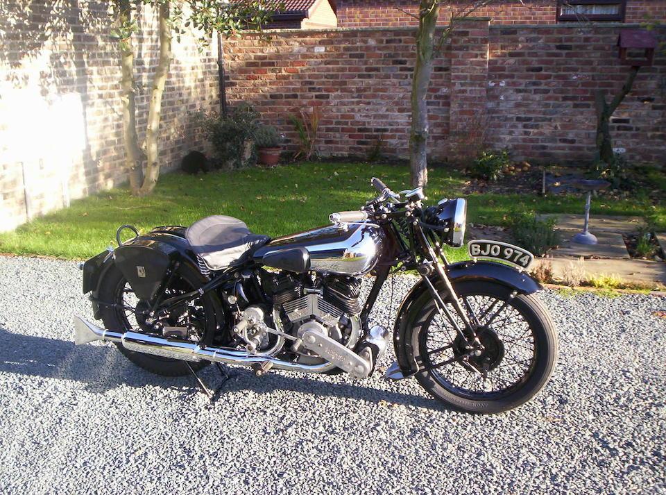 1935 Brough Superior 982cc SS80  Frame no. M8/1534 Engine no. 4207