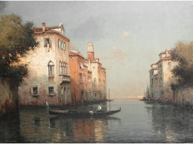 Noel Georges Bouvard (French, 1912-1975) A Venetian canal