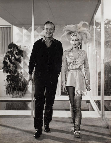 Sam Shaw (American) 'Ursula Andress and David Niven, from Casino Royale', 1967 (together with six other other photographs from the set of 'Casino Royale' featuring Andress, Niven, Orson Welles, Peter Sellers and Woody Allen (7))