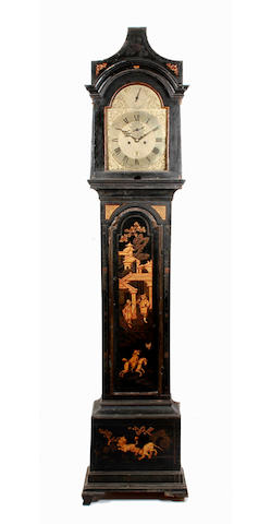 A chinoiserie decorated eight day longcase clock David Rivers, London