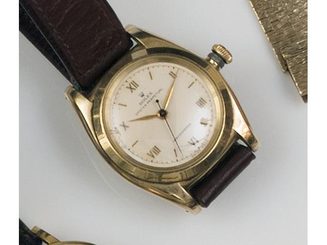 Rolex: An Oyster Perpetual Chronometer 14ct gold gentleman's wristwatch