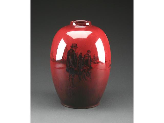 Flambe Wares A large Royal Doulton flambé vase