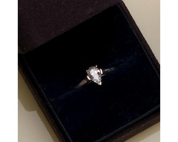 A diamond solitaire ring, by Tiffany & Co.
