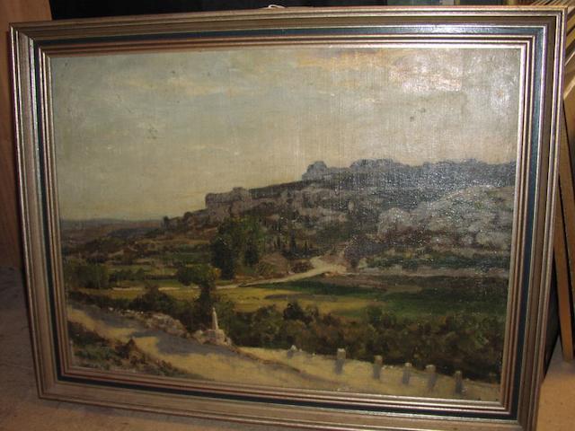 B.R. Hughes-Stanton Landscape, 43 x 59cm.