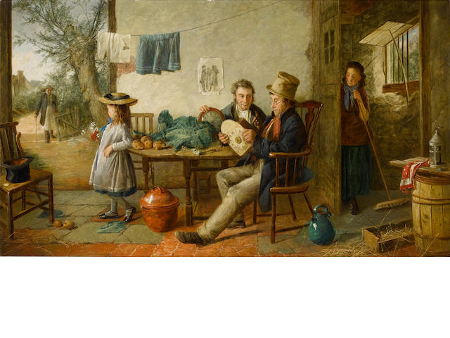 Charles Hunt (British, 1803-1877) Old timers