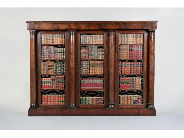 An impressive early 19th century mahogany library bookcase