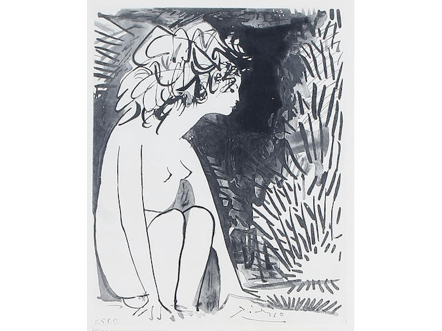 After Pablo Picasso Crouching nude,