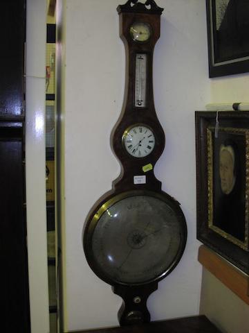 A 19th Century mahogany large wheel barometer