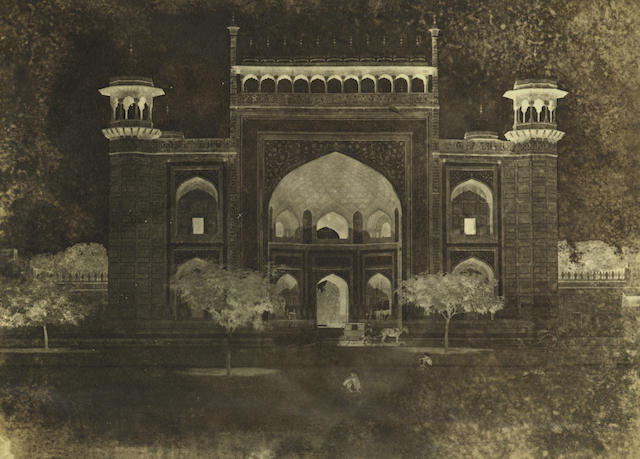 AGRA  View of the Gateway to the Taj Mahal by John Murray, c.1858-1862
