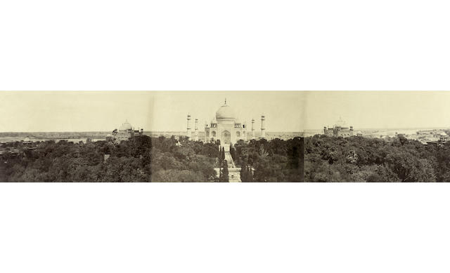 AGRA  The Great Panorama of the Taj Mahal by John Murray, January-March 1864