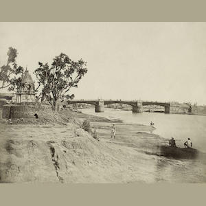 BEATO (FELICE)  The Iron Bridge over the Gomti River at Lucknow, c.1858-1859