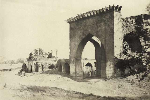 BIGGS (THOMAS)  'Gateway for the Nukar Khana of Nawab Mustafa Khan's Palace', 1866