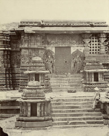 HALEBIDU PIGOU (WILLIAM HENRY) Ten small architectural details in Halebidu, 1866 (10)