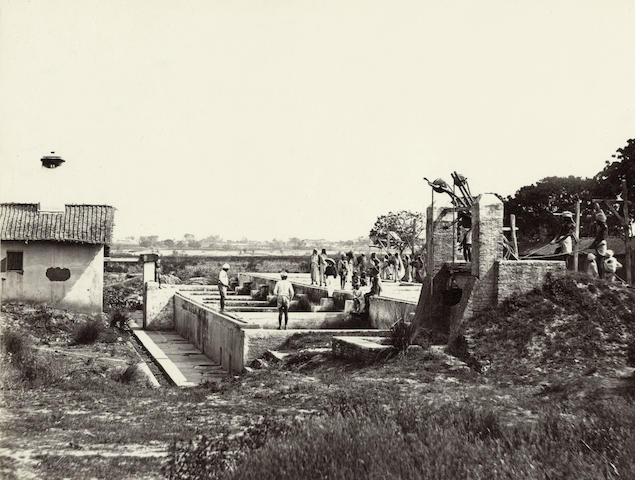 ROUSSELET (LOUIS)  An indigo factory, 1860s