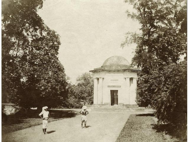 FIEBIG (FREDERICK)  A rotunda in a garden, Calcutta, c.1850