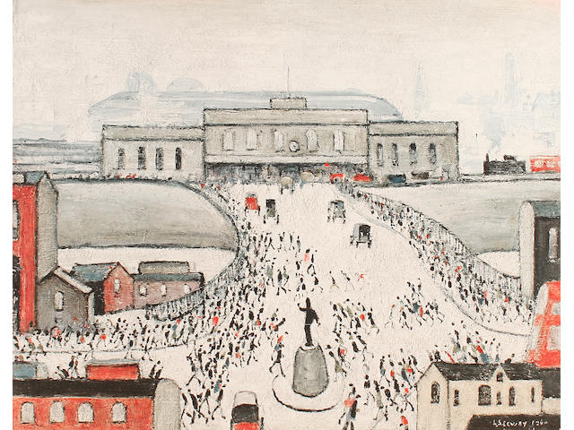 "Laurence Stephen Lowry R.A. (British, 1887-1976) ""Station Approach"","