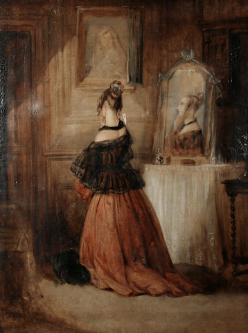 Follower of William Powell Frith, RA (British, 1819-1909) In the dressing room
