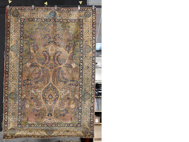 A Tabriz prayer rug North West Persia, 7 ft 11 in x 5 ft 7 in (241 x 170 cm)