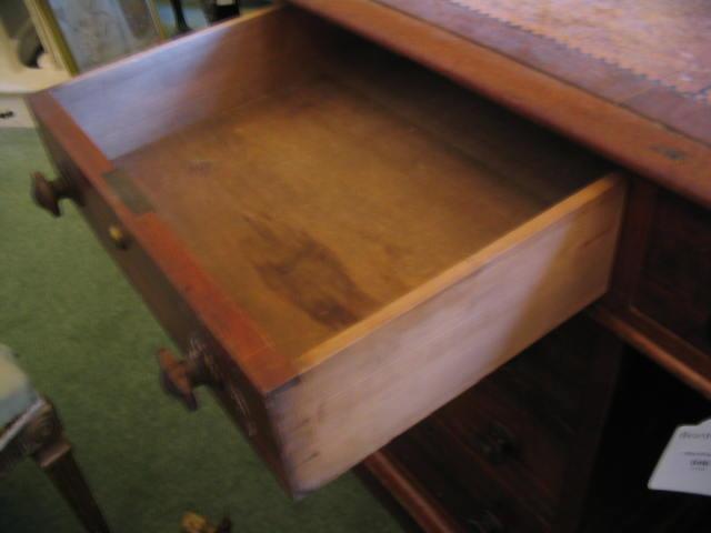 A 19th century mahogany partners desk