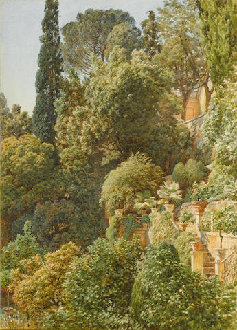 Sir Edward John Poynter, PRA RWS (1836-1919) View over an Italian terrace