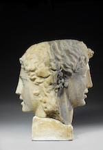 The 'Beth-Shan' Bust A monumental Roman marble double herm