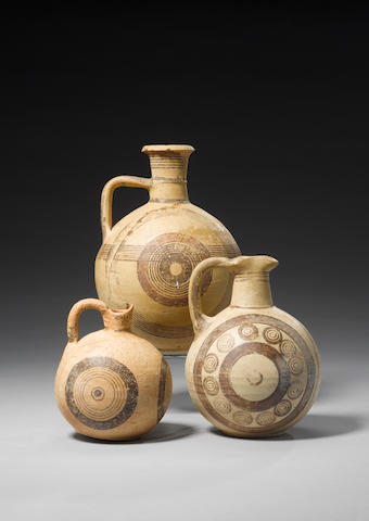 Three Cypriot pottery jugs 3