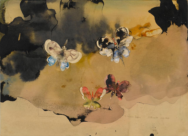 Edmund Blampied (British, 1886-1966) Butterflies 25 x 35.5 cm. (10 x 14 in.)