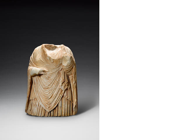 A Roman marble draped female torso