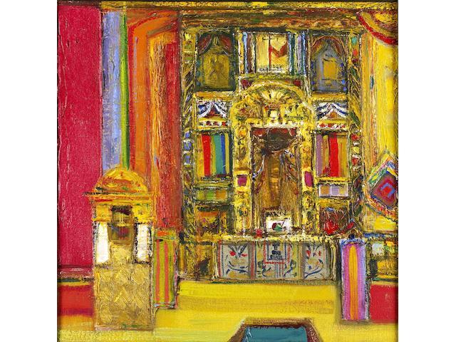 "Sir Robin Philipson, RA PRSA FRSA RSW RGI DLitt LLD (British, 1916-1992) ""Mexican Altar"""