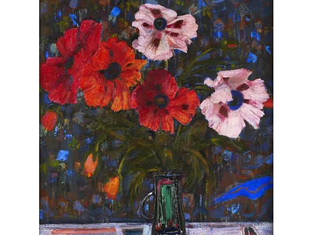 "Sir Robin Philipson, RA PRSA FRSA RSW RGI DLitt LLD (British, 1916-1992) ""Poppies on a Dark Ground"""