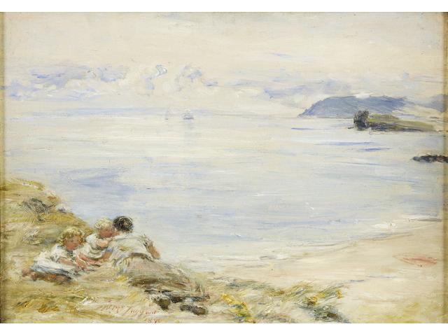 William McTaggart, RSA RSW (British, 1835-1910) 'Hope's whisper'