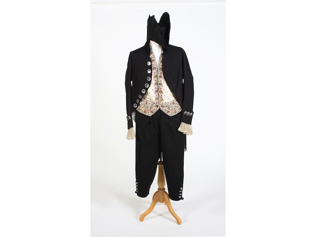 A late 18th/early 19th century man's court costume