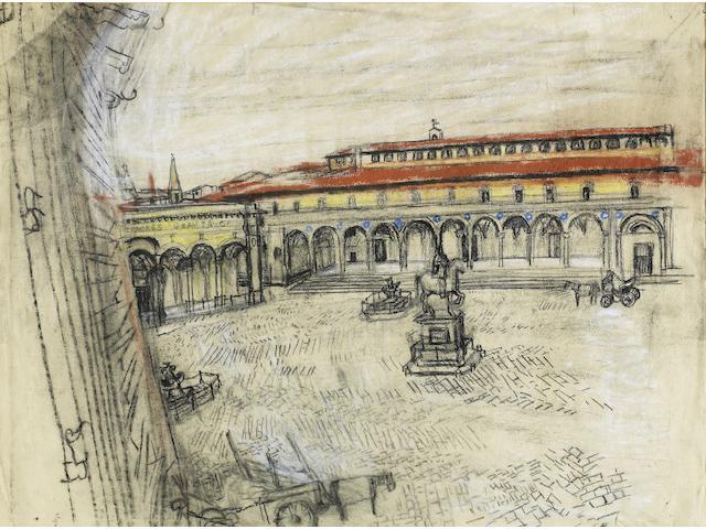 Joan Eardley, RSA (British, 1921-1963) Piazza Ss Annunziata, Florence