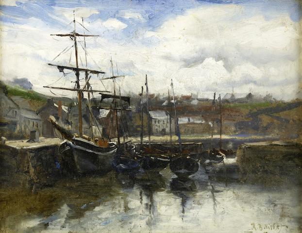 Robert Buchan Nisbet, RSA HRSW RBA RSW RI (British, 1857-1942) An East Coast Harbour